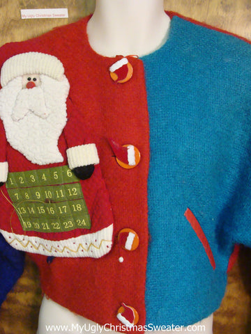 Super Short Bolero Jacket Ugly Christmas Jumper