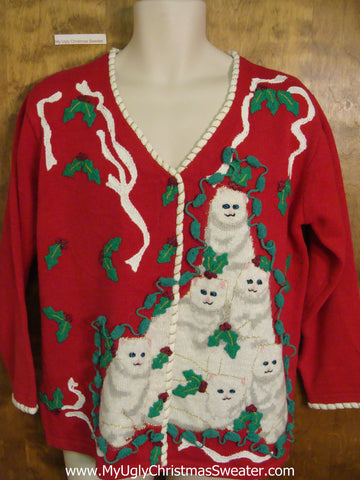 Cat Pyramid Awesome Ugly Christmas Jumper