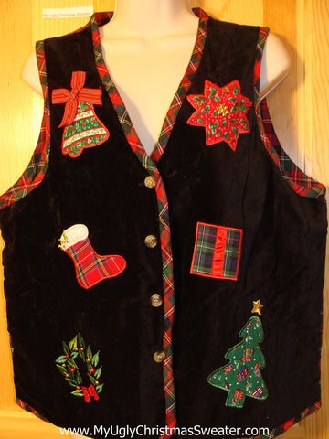 Tacky Ugly Christmas Sweater Party   Vest (f371)