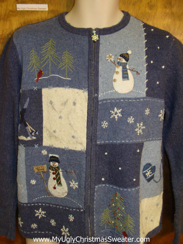 Blue 2sided Ugly Christmas Jumper