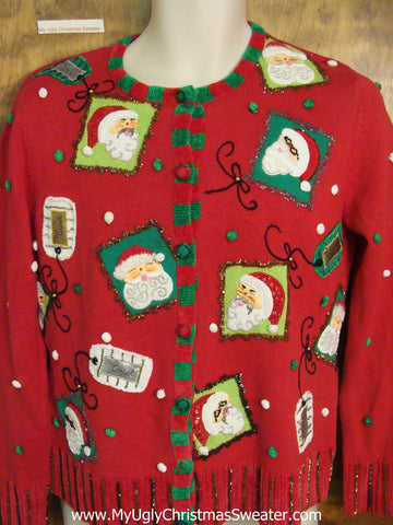 Gift Tag Themed Ugly Christmas Jumper Cardigan