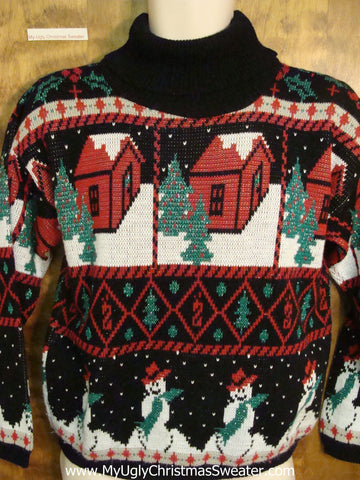 Horrible Retro 80s Ugly Christmas Jumper Pullover