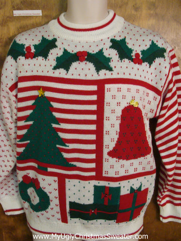 Uber Fun Retro 80s Ugly Christmas Jumper Pullover