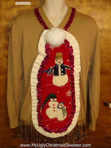 Home Crafted Mens Ugly Christmas Jumper Pullover