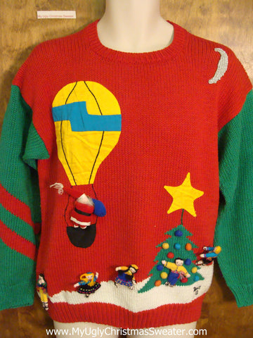 Best 80s Retro Ugly Christmas Jumper Pullover
