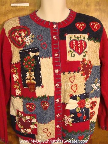 Valentine Hearts Ugly Christmas Jumper