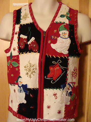 Tacky Ugly Christmas Sweater Vest (f377)