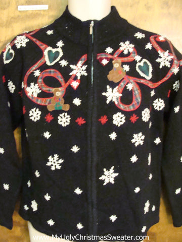 Teddy Bears and Snowflakes Ugly Christmas Jumper