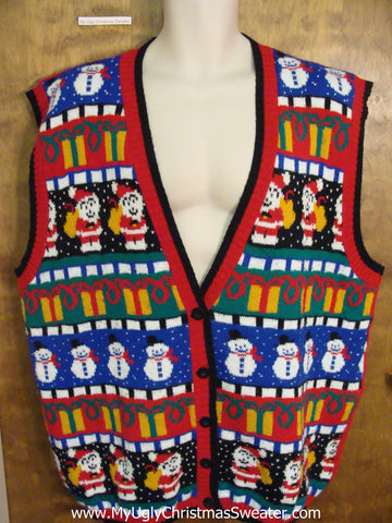 Best Colorful Ugly Christmas Jumper Vest