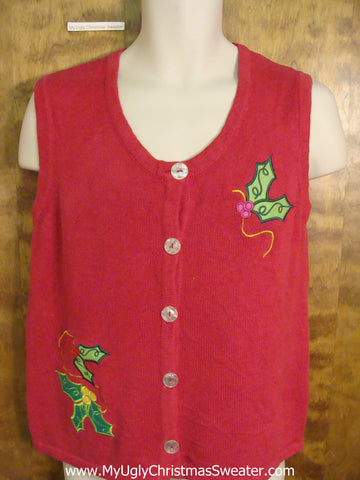 Super Cheap Simple Ugly Sweater Dash Vest