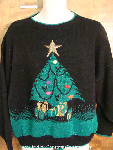 Best 80s Tree Ugliest Christmas Sweater Pullover