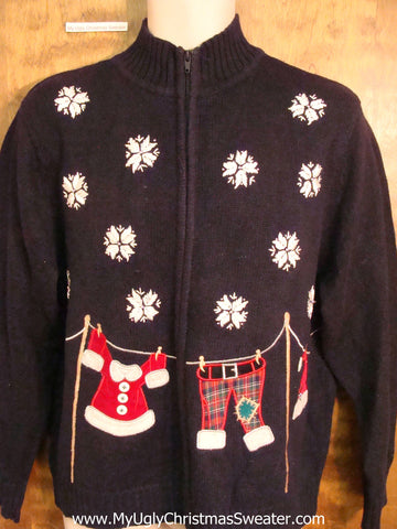 Santas Clothesline Ugliest Christmas Sweater