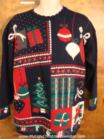 Best 80s Acrylic Ugliest Christmas Sweater Pullover