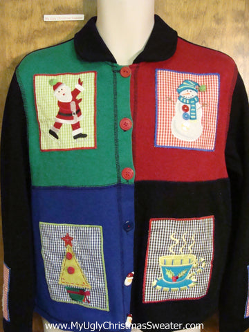 Four Simple Squares Ugliest Christmas Sweater