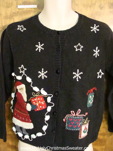 Santa in a Dress Ugliest Christmas Sweater
