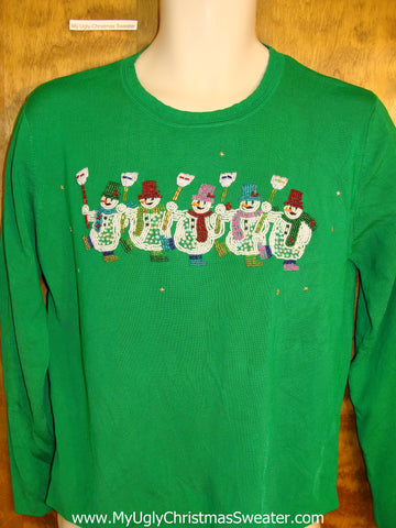 Thin Knit Green Ugliest Christmas Sweater Pullover