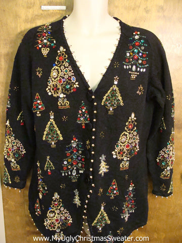 Best 80s Bling Trees Ugliest Christmas Sweater