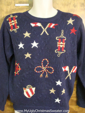 Cheap Patriotic Corny Cheesy Holiday Sweater