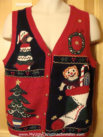 Tacky Ugly Christmas Sweater Vest (f390)