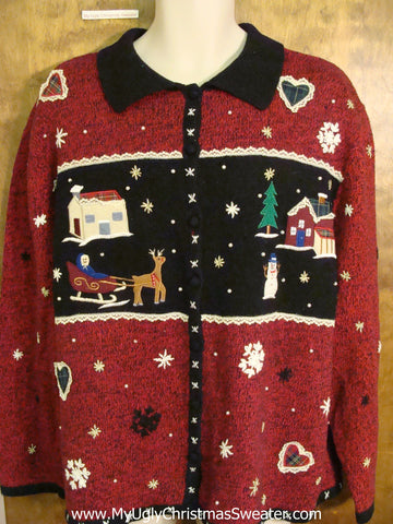 Crafty Hearts and Sleepy Town Cheesy Christmas Sweater