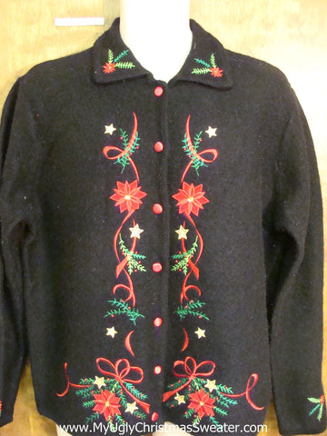 Cheap Poinsettias Corny Cheesy Christmas Sweater