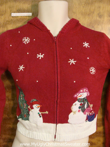 CHILD Snowman Themed Corny Christmas Sweater Hoodie