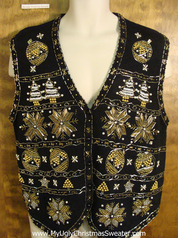 King of Bling 80s Holiday Sweater Vest