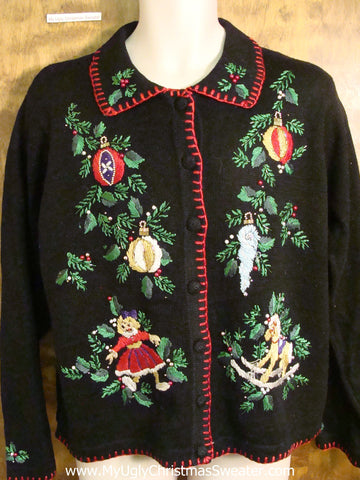 Holiday Sweater with Ornaments and Toys