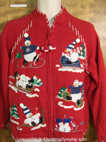 Snowman 6pack Novelty Funny Christmas Sweater