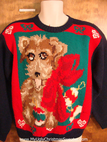 Best 80s Dog Themed Novelty Funny Christmas Sweater
