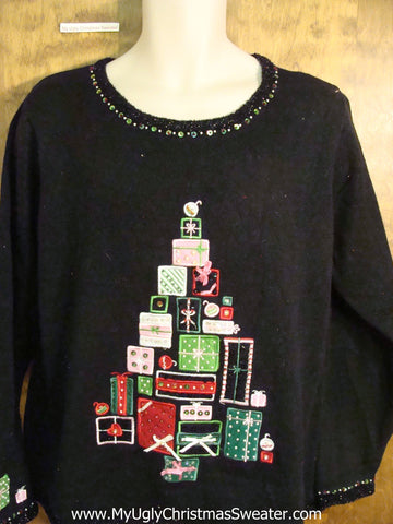 Tree of Gifts Novelty Funny Christmas Sweater