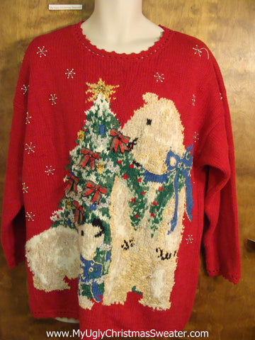 Best 80s Bears Novelty Funny Christmas Sweater