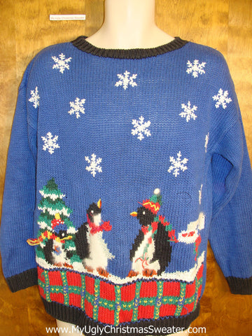 Cute Penguin Family Novelty Funny Christmas Sweater