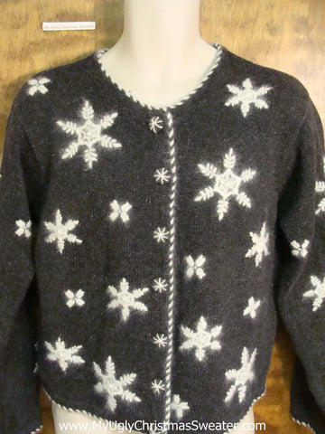 Snowflake Party on this Novelty Funny Christmas Sweater