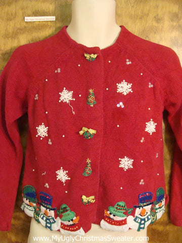 Child Size Red Novelty Funny Christmas Sweater