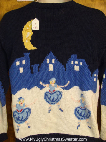 Best 80s Ballerinas and Nutcrackers Novelty Funny Christmas Sweater