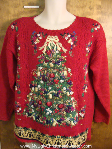 Red Masterpiece Novelty Funny Christmas Sweater