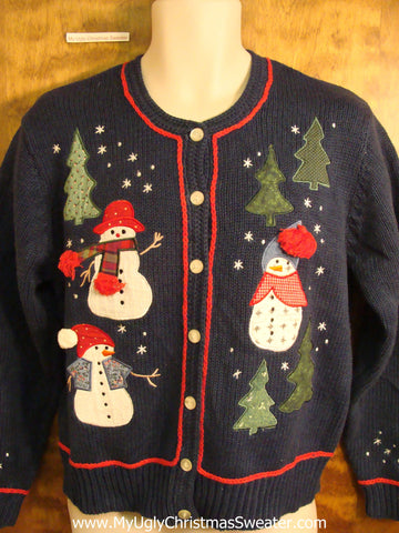 Best 2sided Snowmen Novelty Funny Holiday Sweater