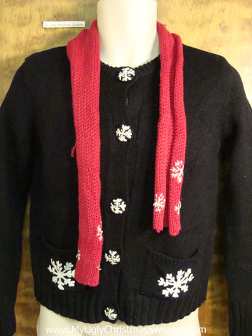 Novelty Funny Holiday Sweater with Scarf