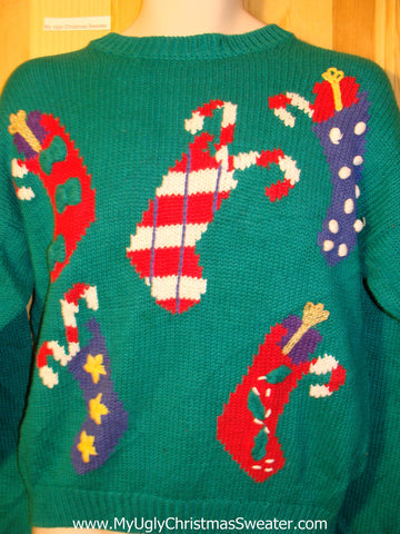 Tacky Ugly Christmas Sweater Old School 80s Classic Bold and Festive (f410)