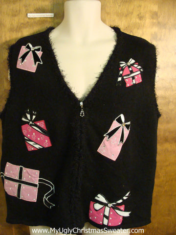 Pink Gifts Tacky Bad Christmas Sweater Vest