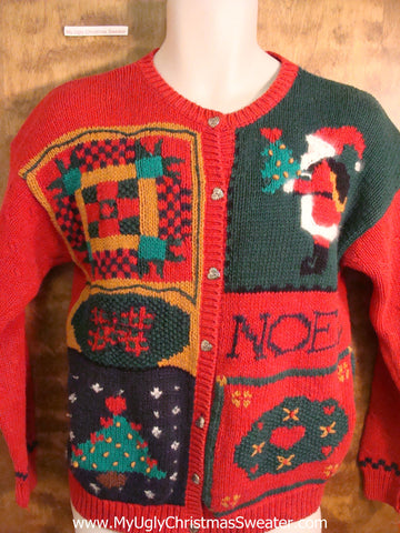 Tacky 80s NOEL Retro Christmas Sweater