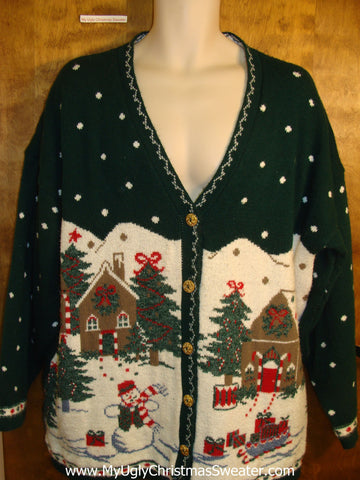Best Big Size 80s Winter Wonderland Christmas Sweater