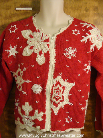 Best 80s Red Fancy Tacky Bad Christmas Sweater