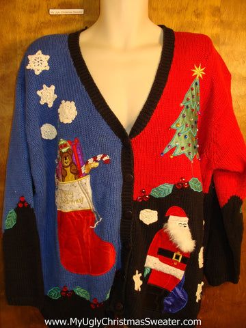 Best 80s Big Size Colorful Holiday Sweater