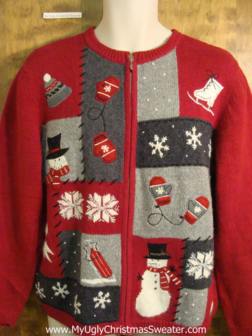 Red 2sided Funny Tacky Bad Christmas Sweater