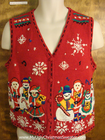 BEST Nordic Snowmen Cute Christmas Sweater Vest