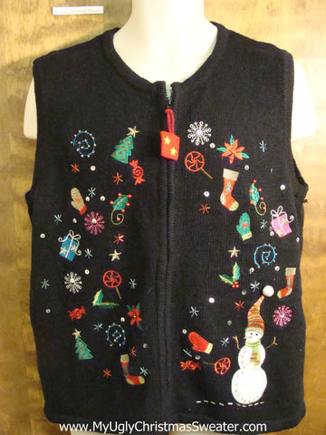 Cute Festive Flying Decorations Christmas Sweater Vest