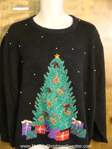 Huge Tree and Gifts 2sided Ugliest Christmas Sweater