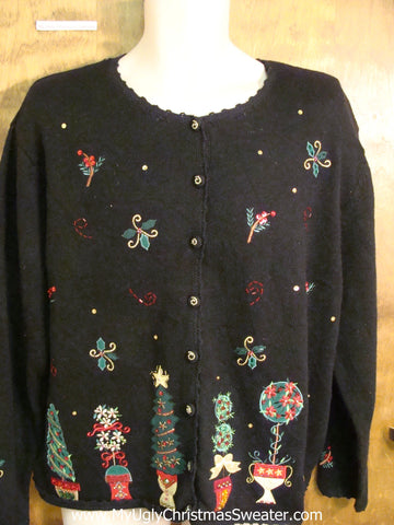 Horrible Trees Black Ugliest Christmas Sweater